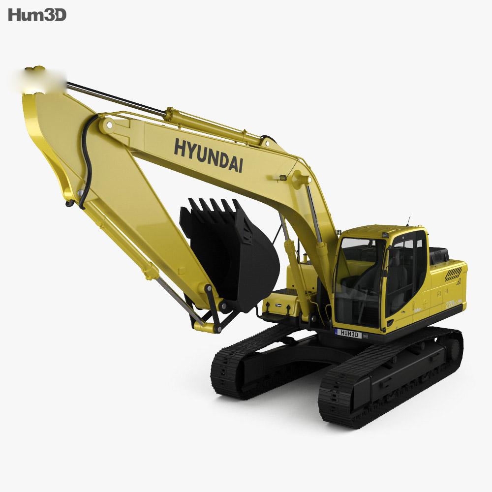 Hyundai R220LC-9S Excavator 2013 3d model