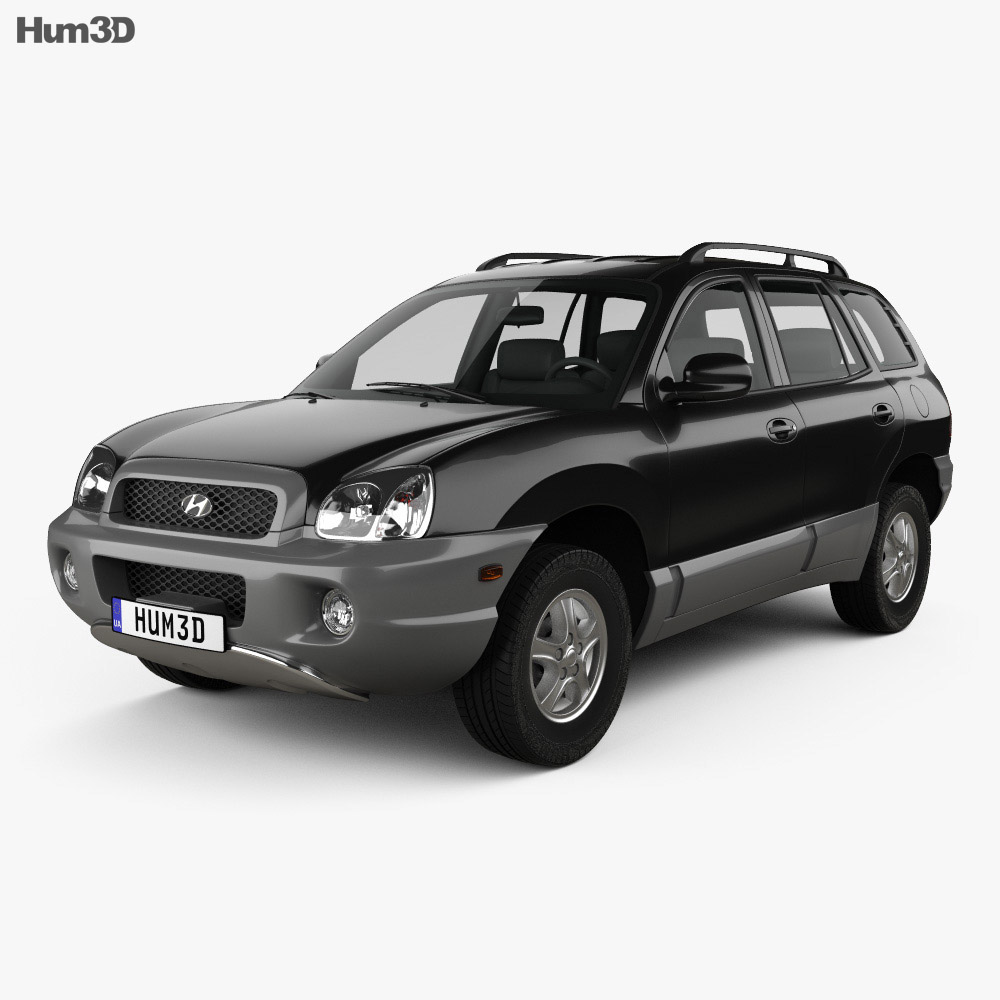 hyundai santa fe sm 2004 3d model vehicles on hum3d. Black Bedroom Furniture Sets. Home Design Ideas