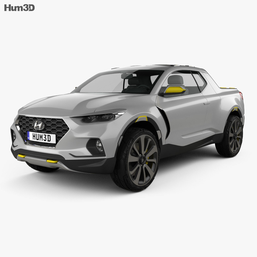 Hyundai Santa Cruz Crossover Truck 2015 3d model