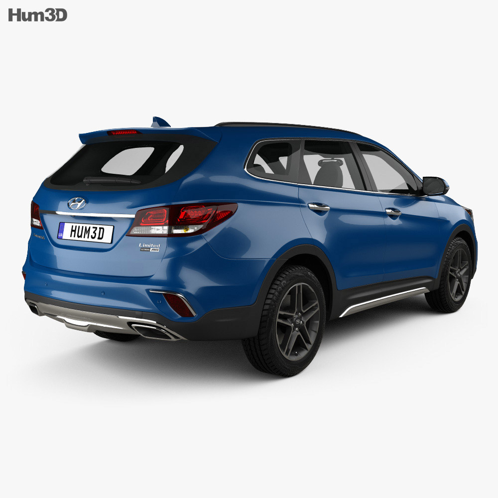 Hyundai Santa Fe (DM) 2017 3d model