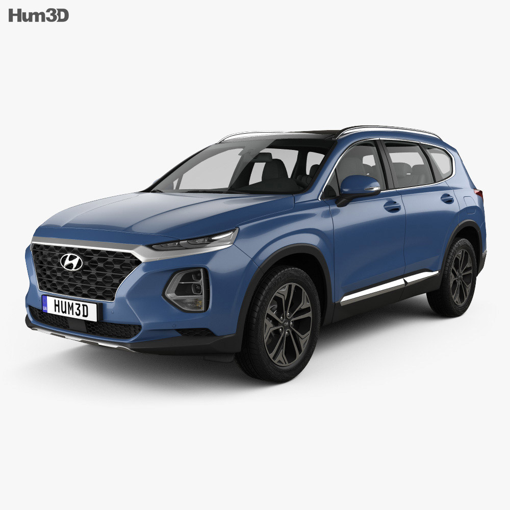hyundai santa fe tm 2019 3d model vehicles on hum3d. Black Bedroom Furniture Sets. Home Design Ideas