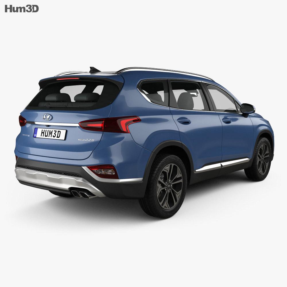 Hyundai Santa Fe Tm 2019 3d Model Vehicles On Hum3d