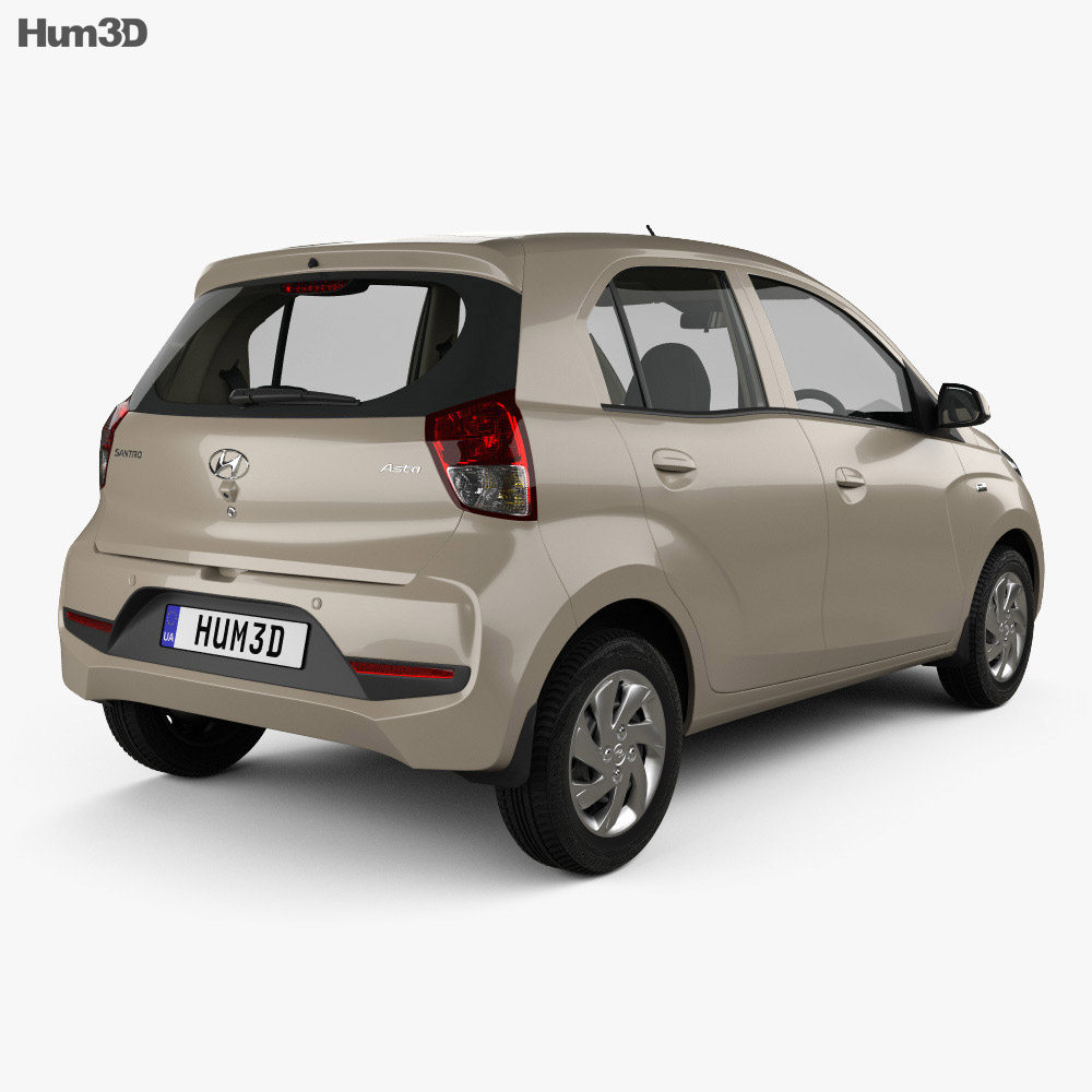 Hyundai Santro Asta with HQ interior 2018 3d model