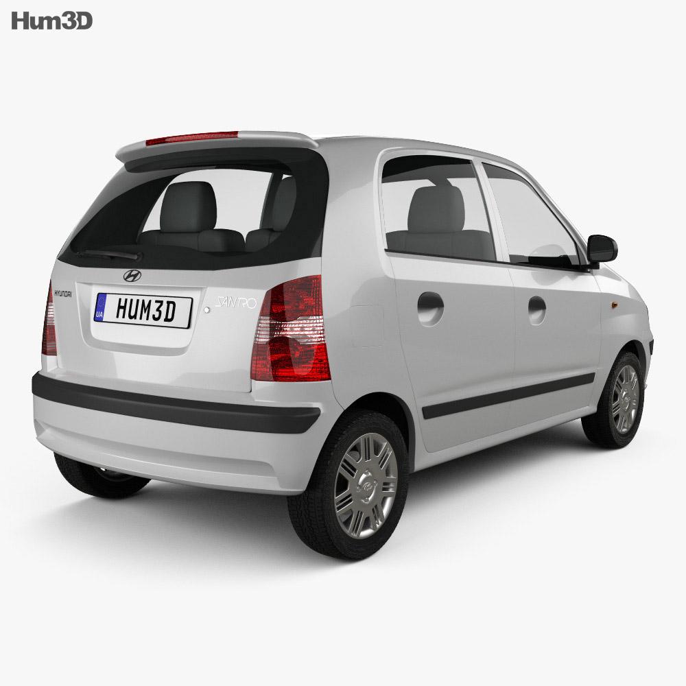 Hyundai Santro Xing 2016 3d model