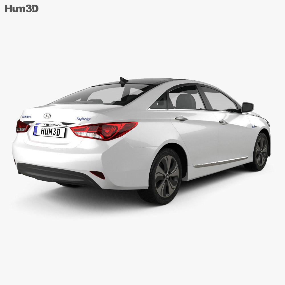Hyundai Sonata (YF) hybrid 2015 3d model