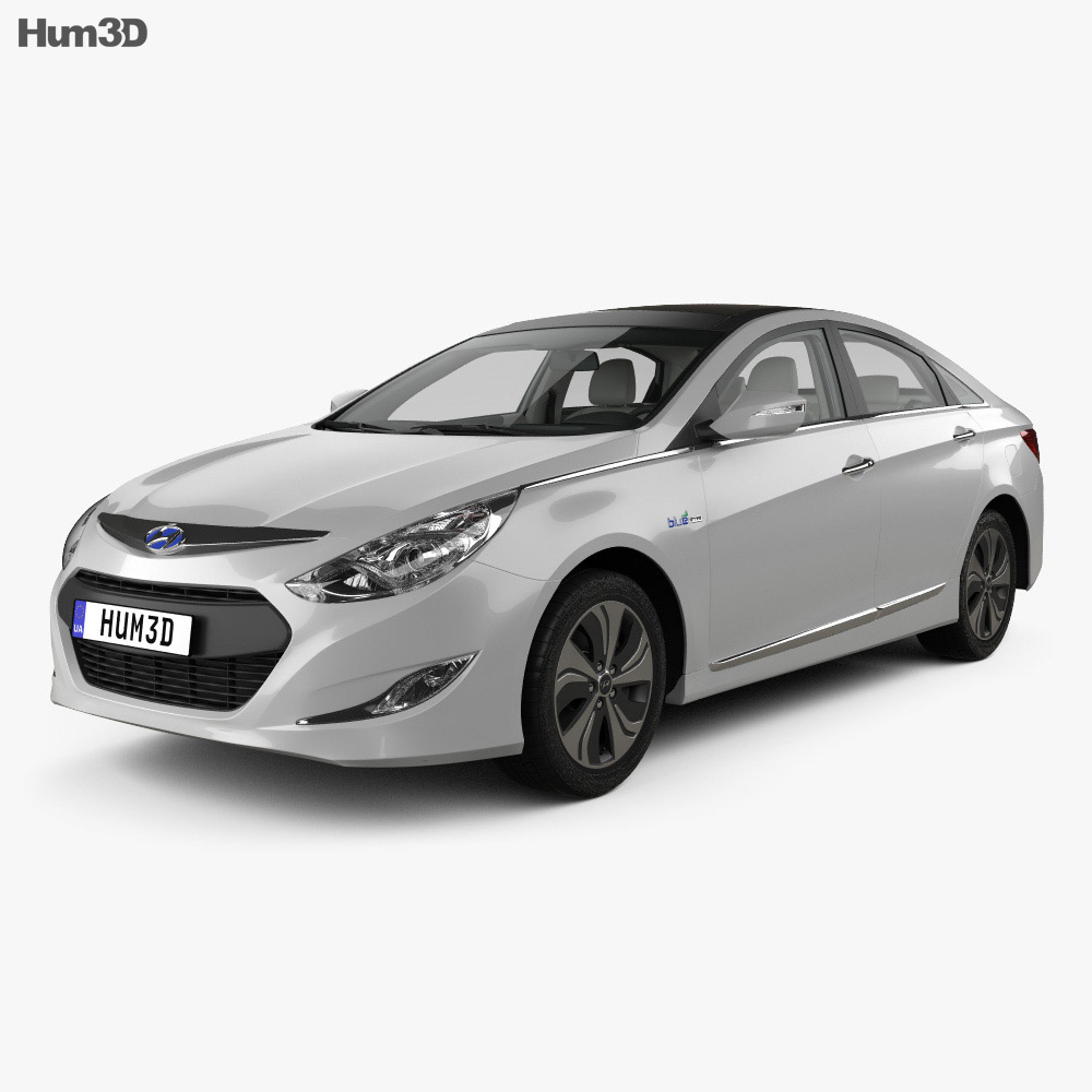 Hyundai Sonata (YF) hybrid with HQ interior 2015 3d model