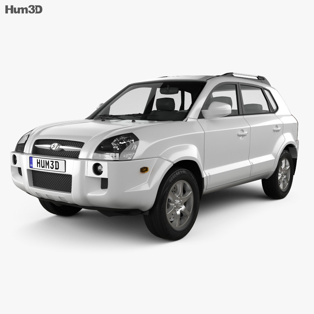 Hyundai Tucson 2006 3d model