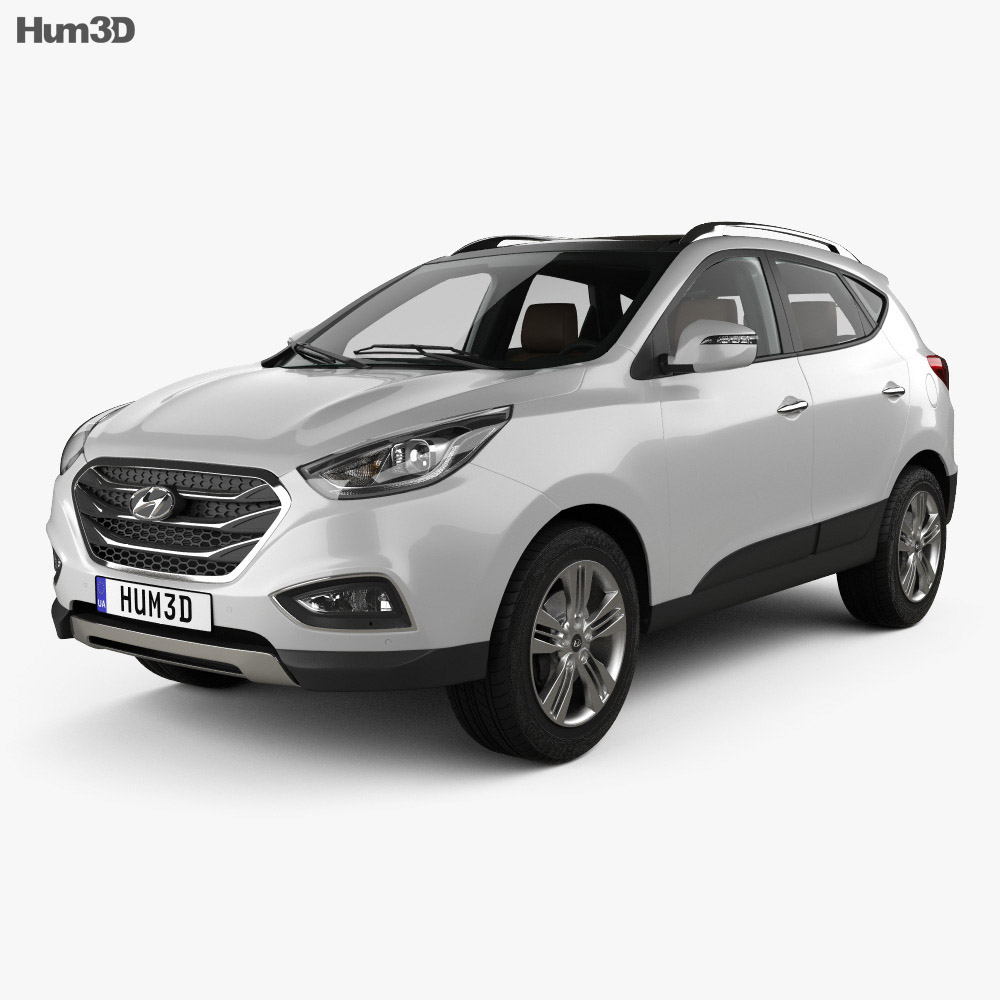 Hyundai Tucson with HQ interior 2014 3d model