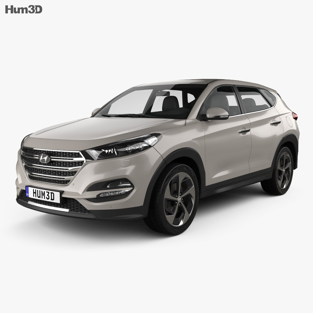 hyundai tucson 2016 3d model vehicles on hum3d. Black Bedroom Furniture Sets. Home Design Ideas