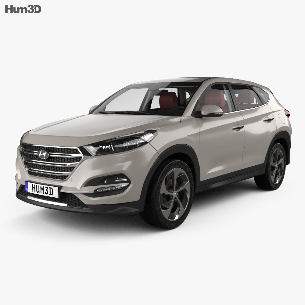 hyundai tucson with hq interior 2016 3d model humster3d. Black Bedroom Furniture Sets. Home Design Ideas