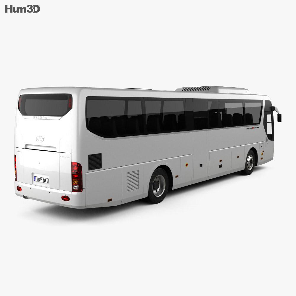 Hyundai Universe Xpress Noble Bus 2007 3d model