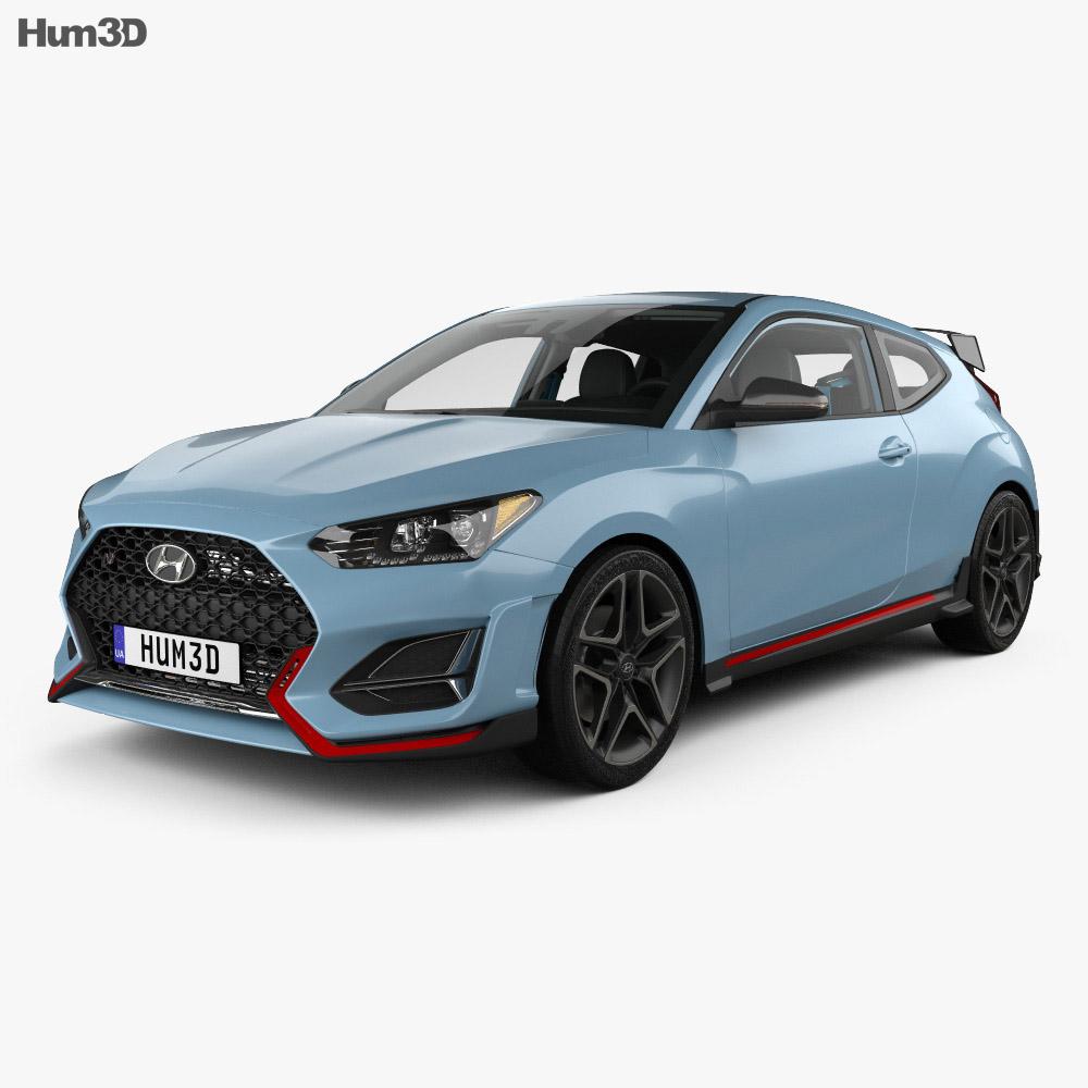 Hyundai Veloster N with HQ interior 2018 3d model