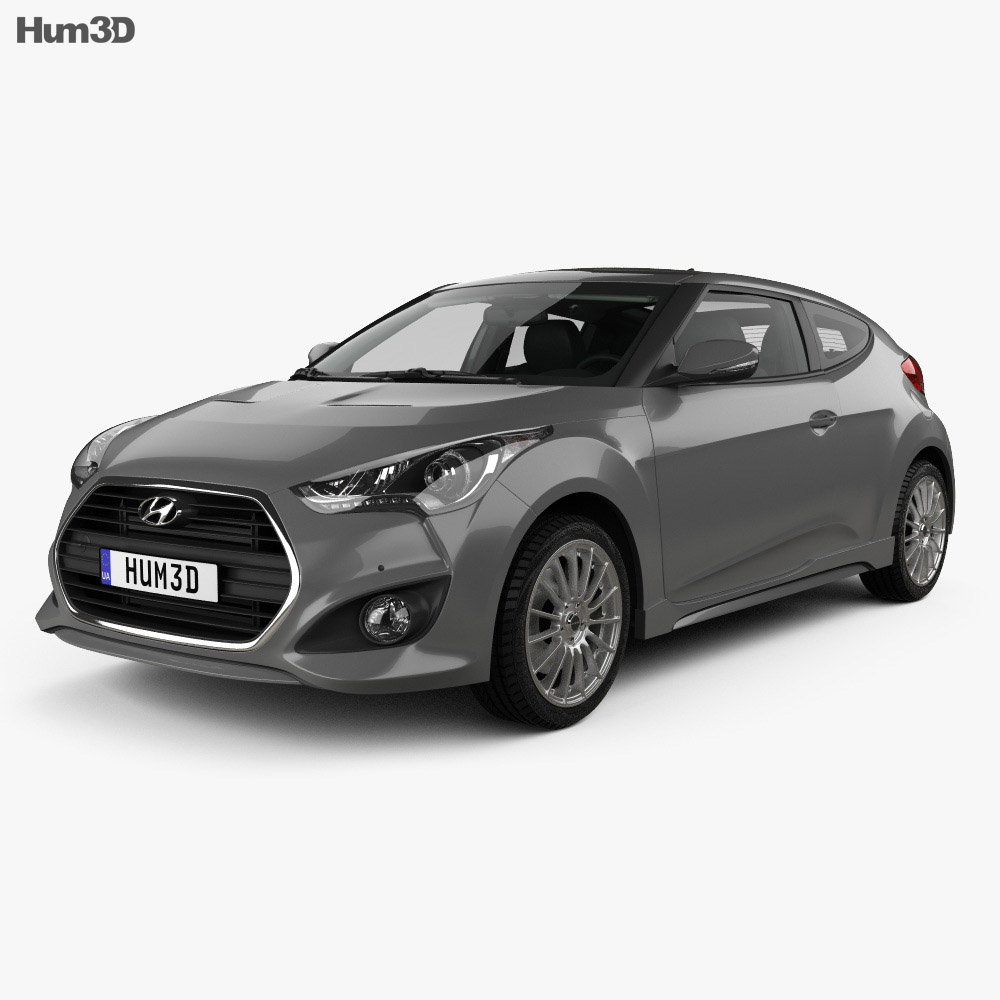 hyundai veloster turbo with hq interior 2014 3d model. Black Bedroom Furniture Sets. Home Design Ideas