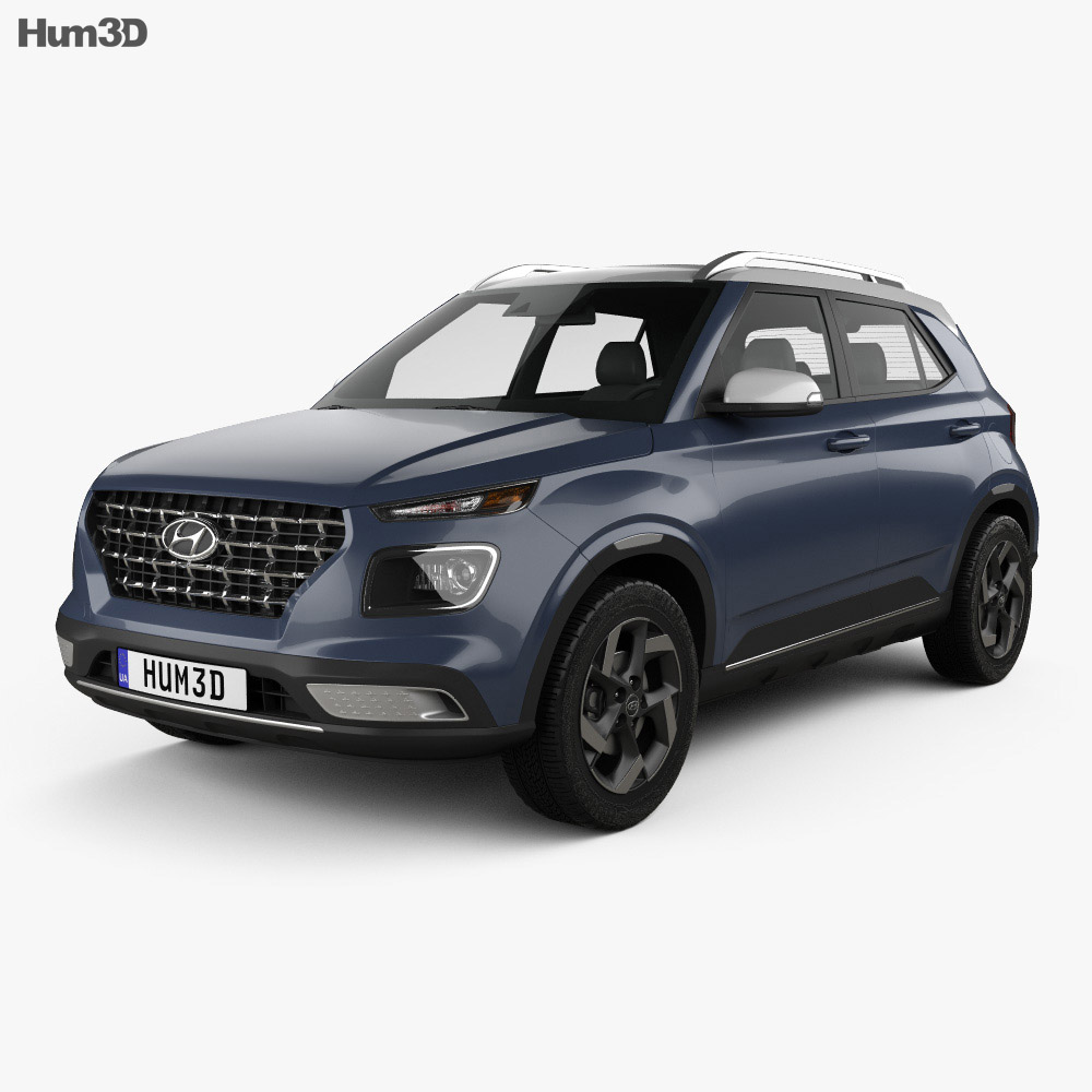 Hyundai Venue 2020 3d Model Vehicles On Hum3d