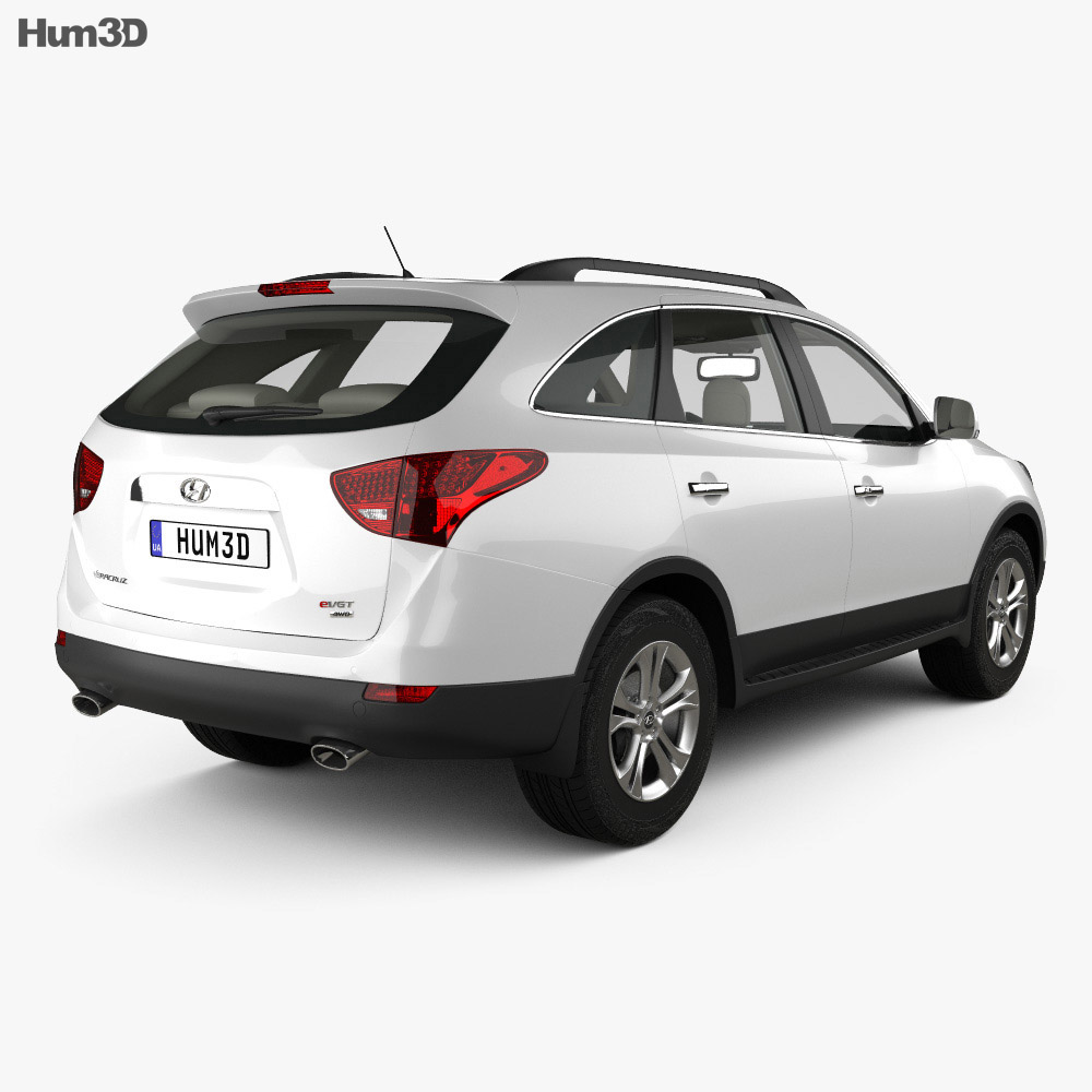 Hyundai Veracruz (ix55) with HQ interior 2014 3d model