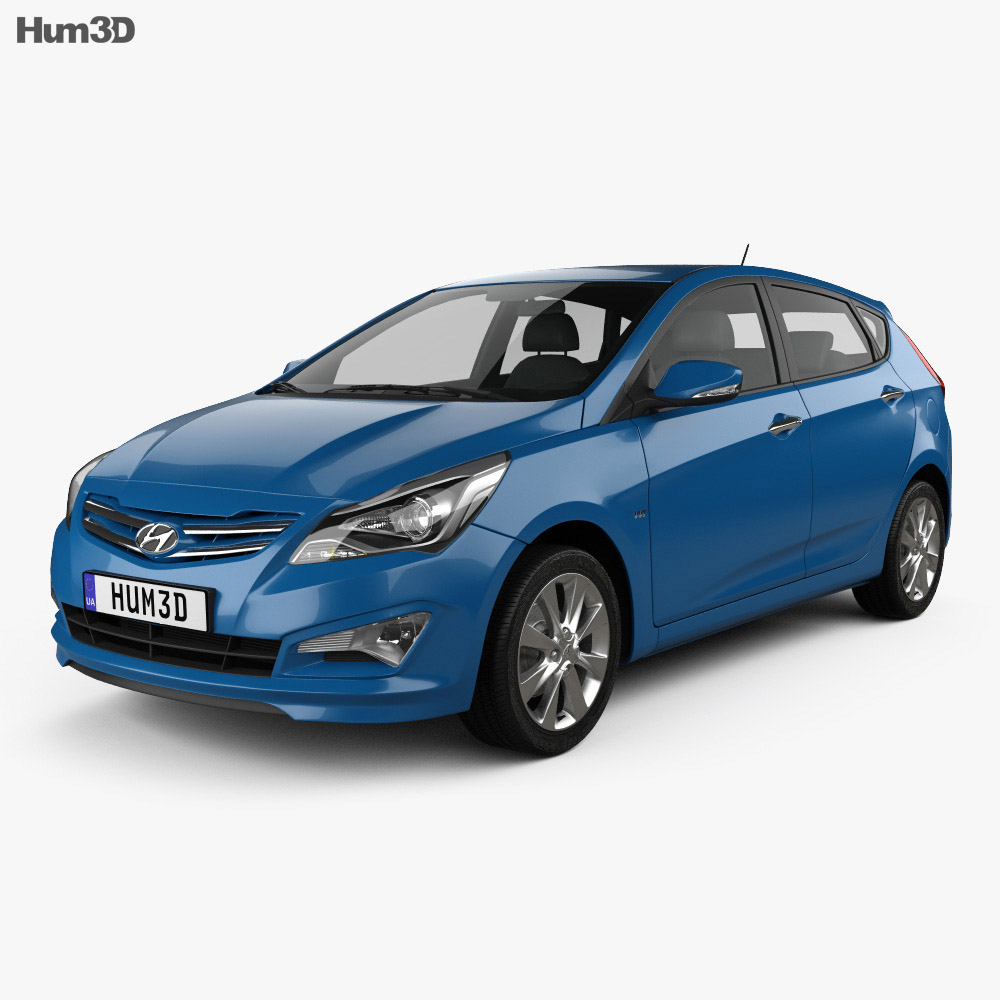 Hyundai Verna (Accent) 5-door hatchback 2014 3d model