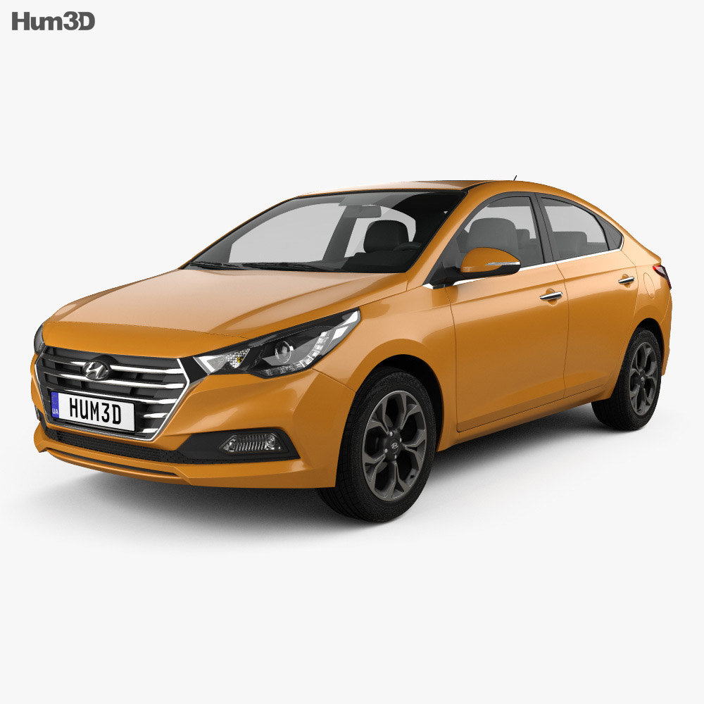 hyundai verna accent 2017 3d model hum3d. Black Bedroom Furniture Sets. Home Design Ideas