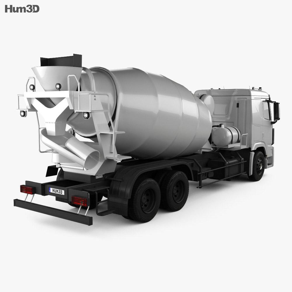Hyundai Xcient Mixer Truck 2014 3d model