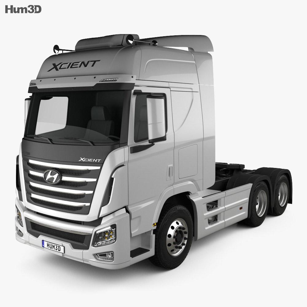 Hyundai Xcient P520 Tractor Truck 2013 3d Model Humster3d