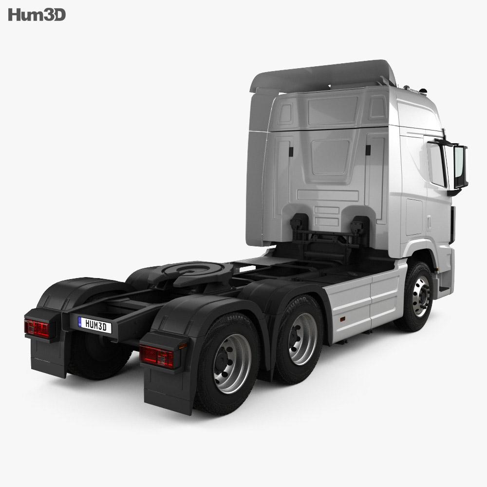 Hyundai XCient P520 Tractor Truck 2013 3d model