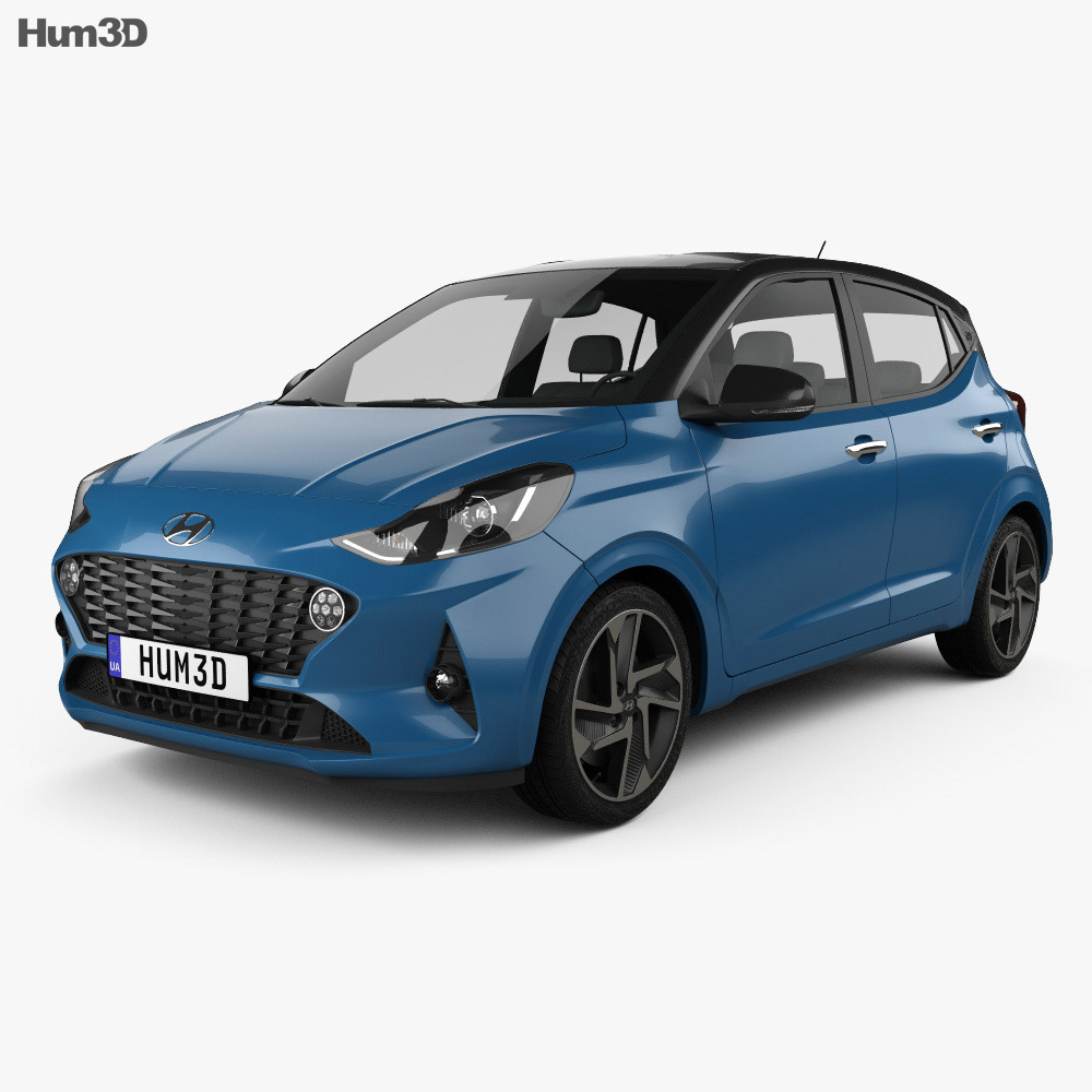 Hyundai i10 2019 3d model