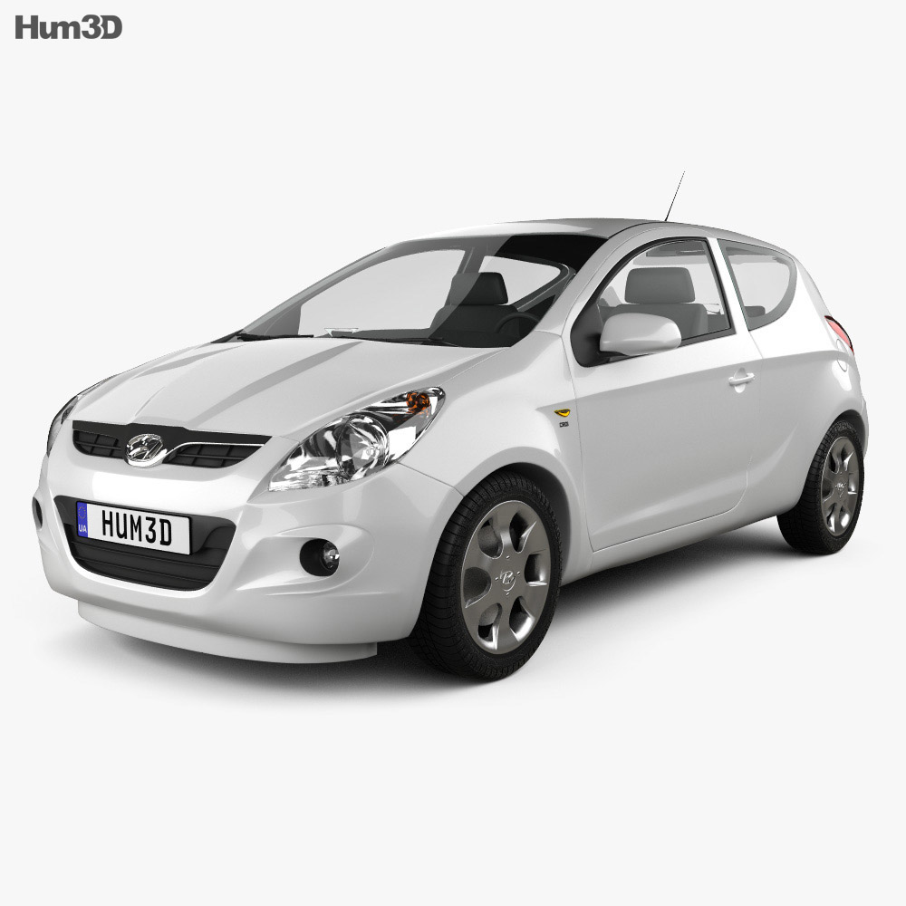 Hyundai i20 3-door 2010 3d model