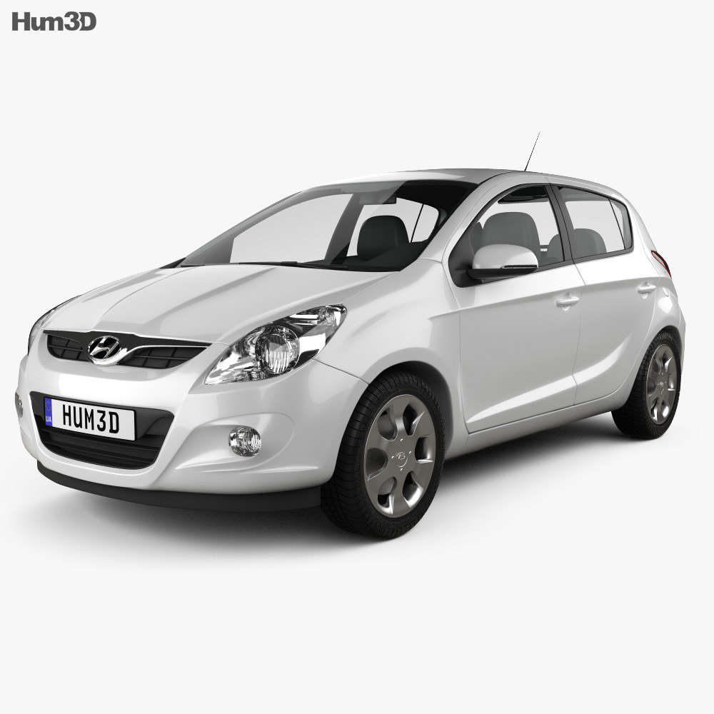 Hyundai i20 5-door 2010 3d model