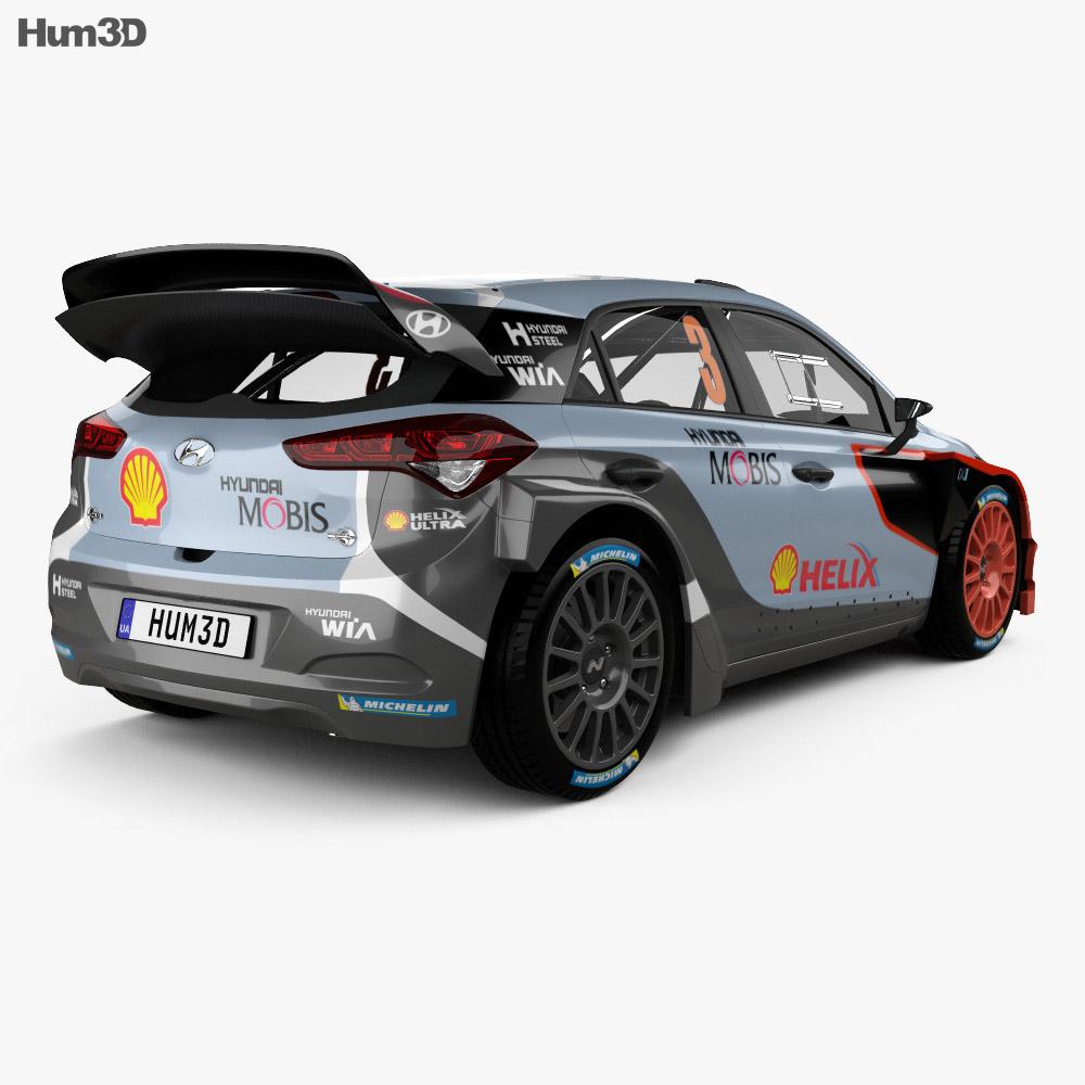 Hyundai i20 WRC 2016 3d model