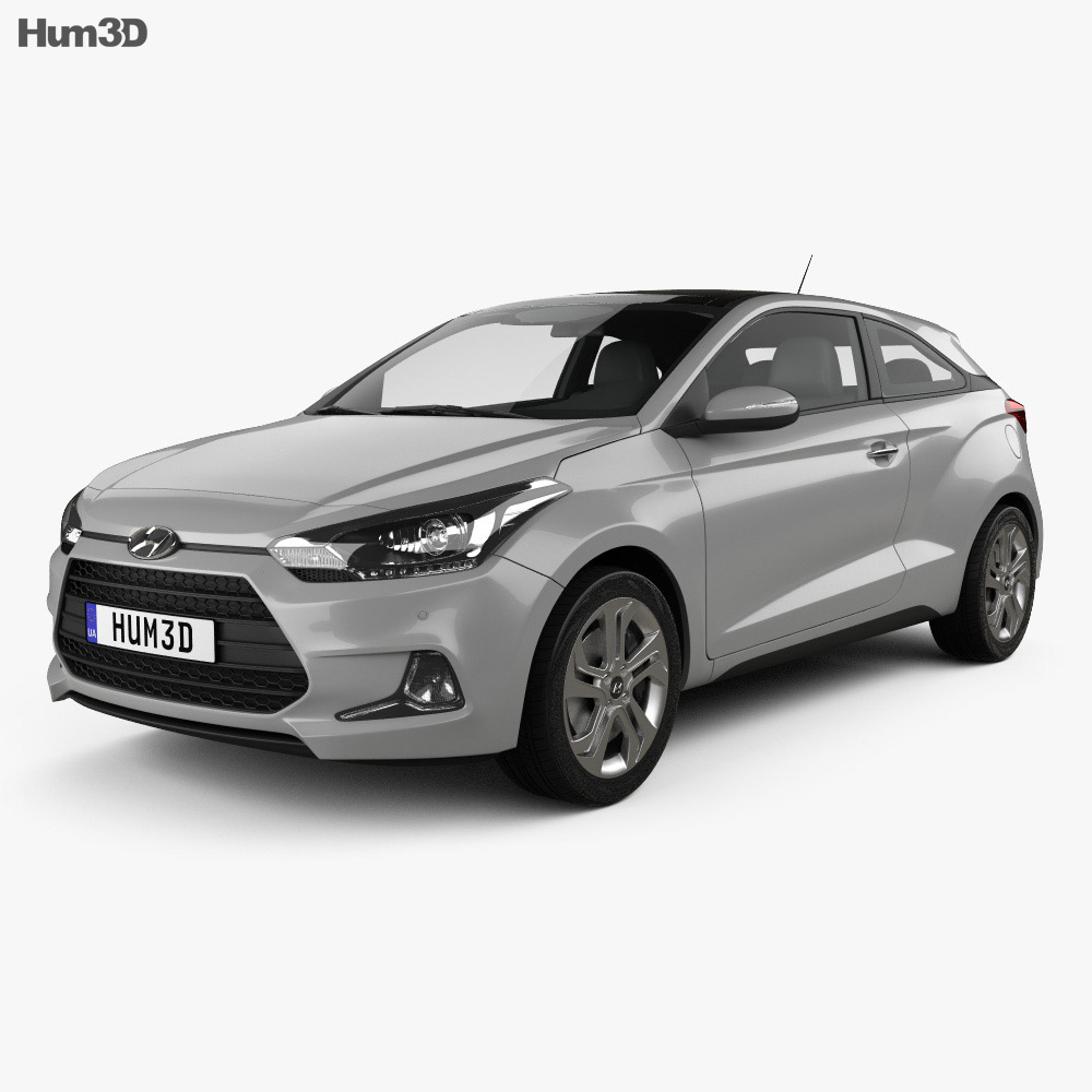 Hyundai i20 Coupe 2015 3d model