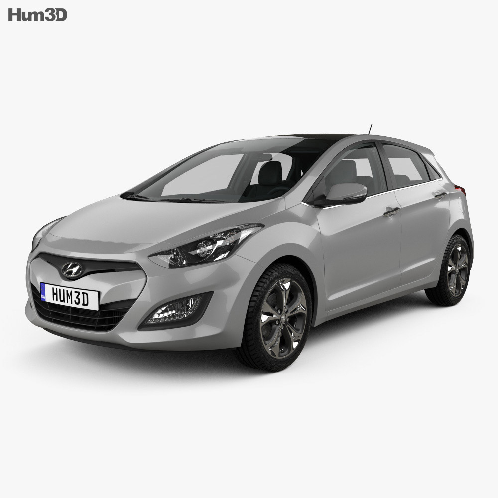 Hyundai i30 5-door with HQ interior 2014 3d model