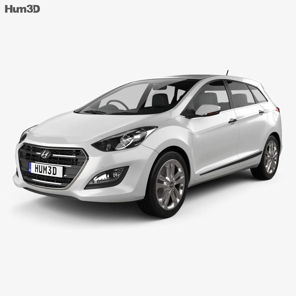 Hyundai i30 (Elantra) Wagon (UK) 2015 3d model