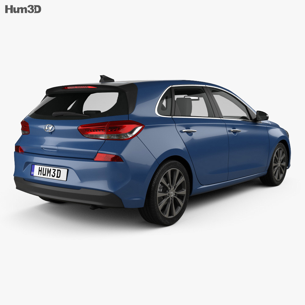 Hyundai i30 (Elantra) 5-door 2016 3d model