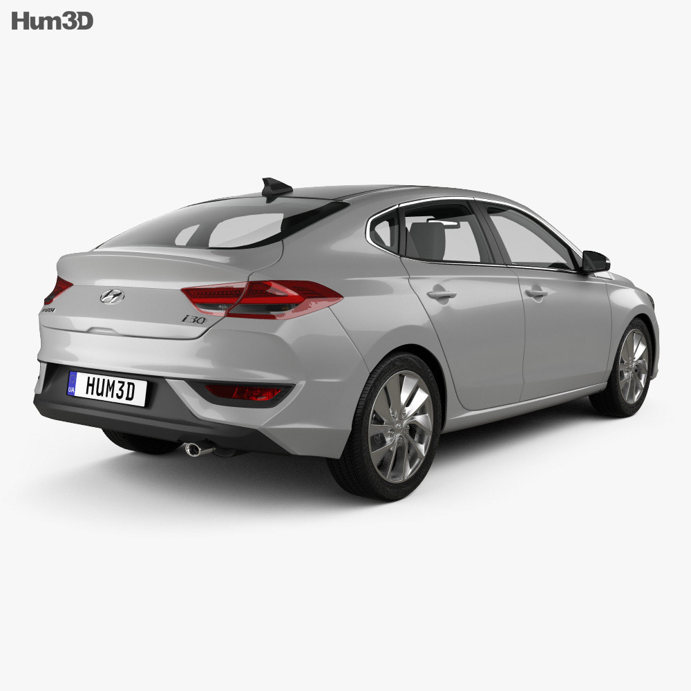 Hyundai i30 fastback 2017 3d model