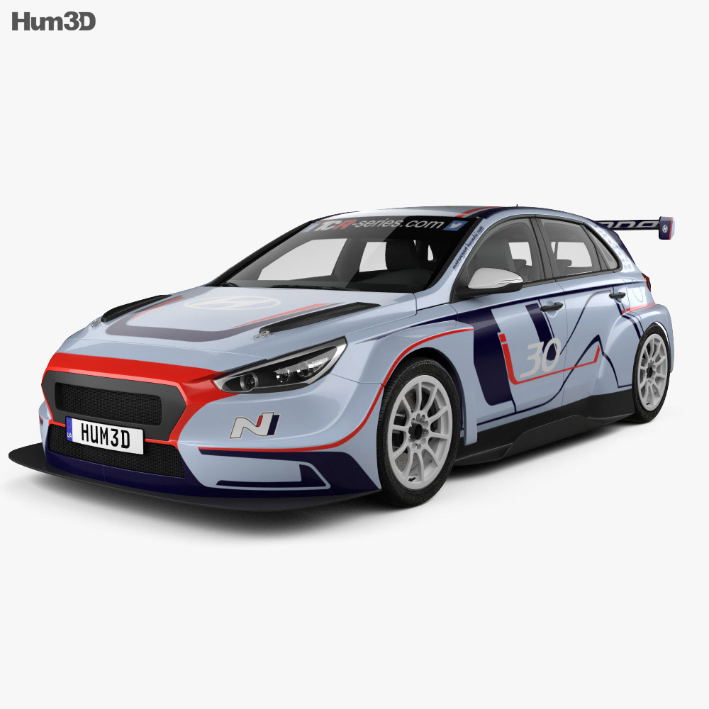 Hyundai i30 N TCR hatchback 2017 3d model