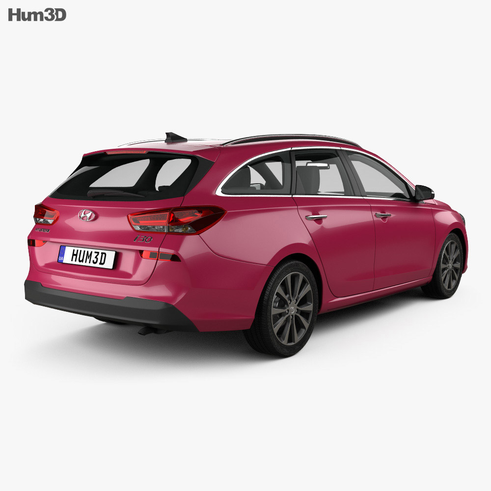 Hyundai i30 wagon 2017 3d model