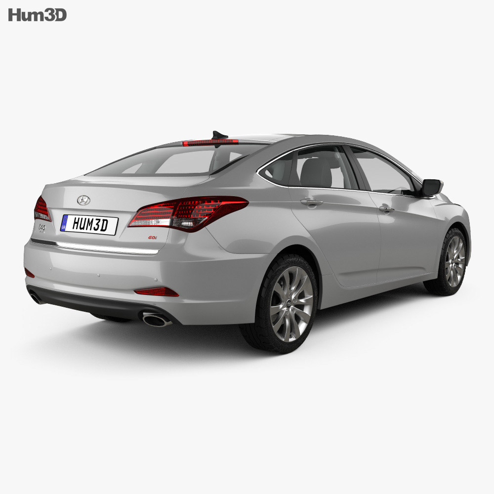 Hyundai i40 sedan with HQ interior 2011 3d model