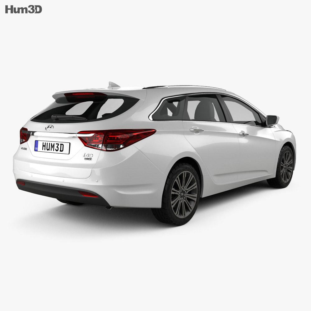 Hyundai i40 wagon 2015 3d model back view