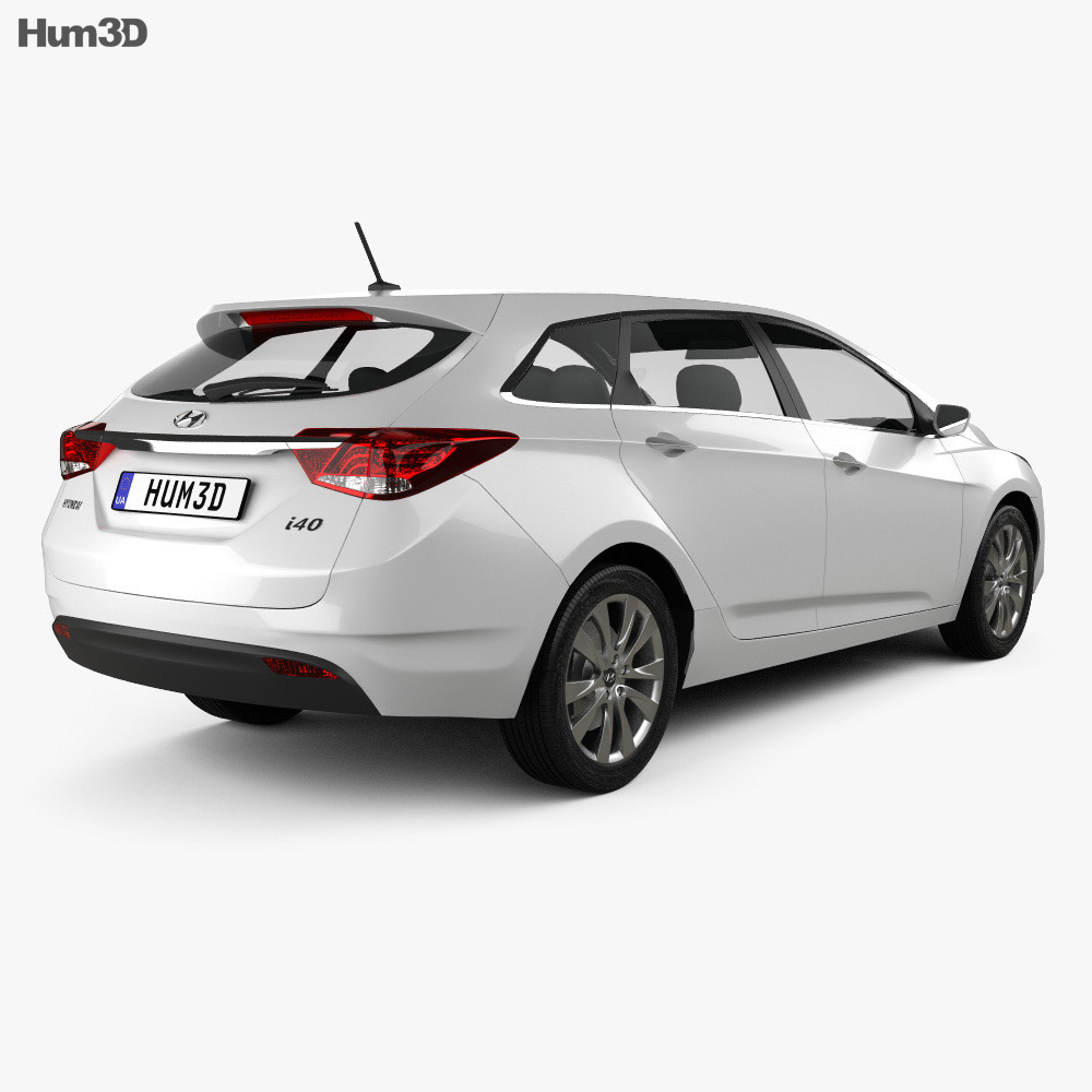 Hyundai i40 Tourer 2012 3d model