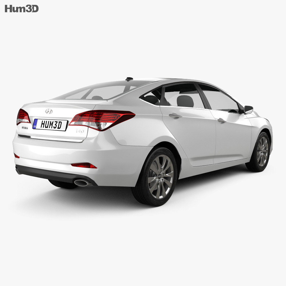 Hyundai i40 sedan 2012 3d model