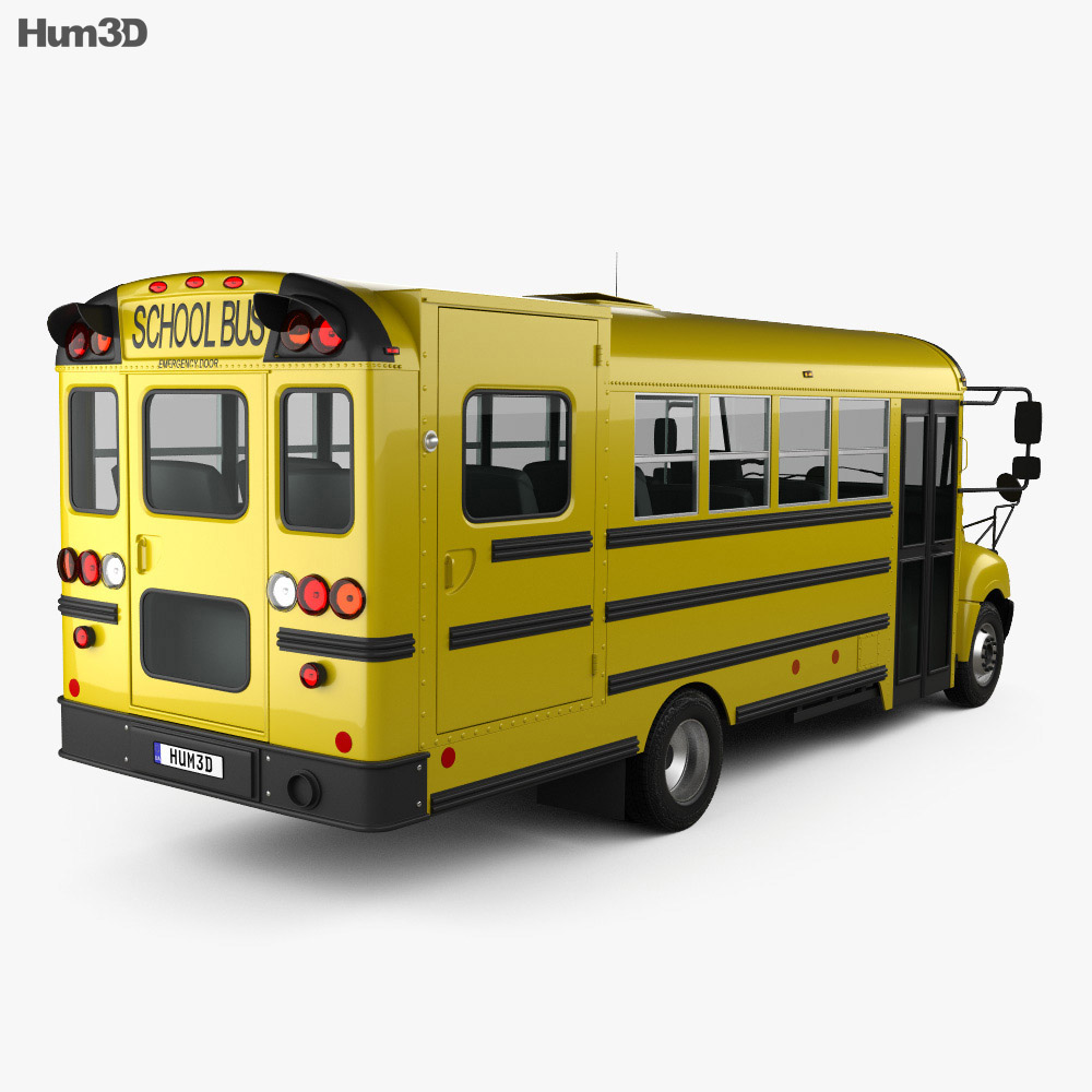 IC BE School Bus 2012 3d model