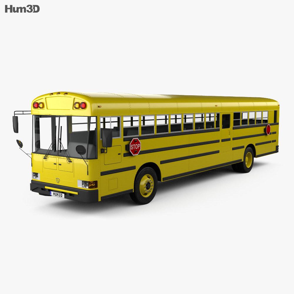 IC RE School Bus 2008 3d model