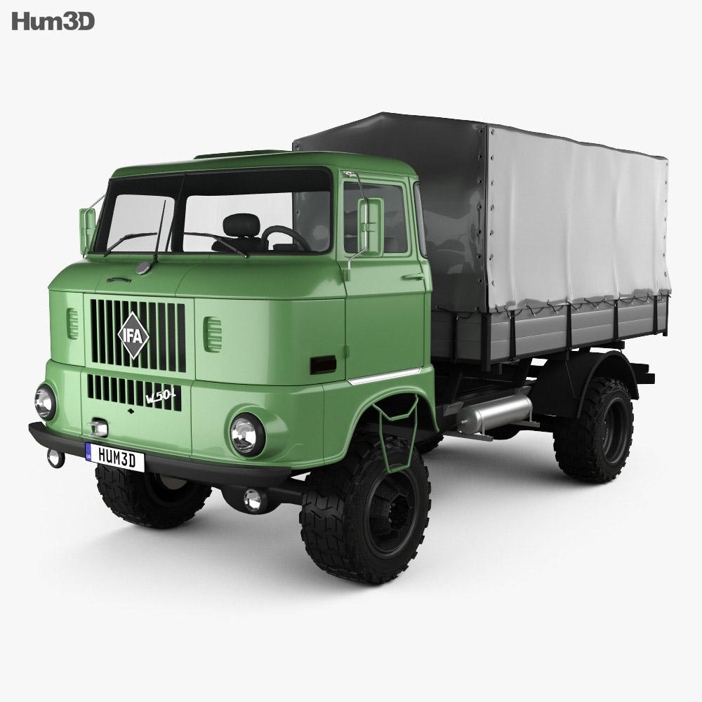 IFA W50 L Flatbed Truck 1980 3d model