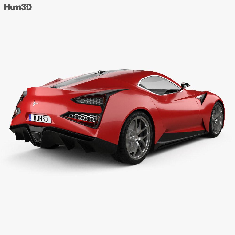 Icona Vulcano 2013 3d model back view