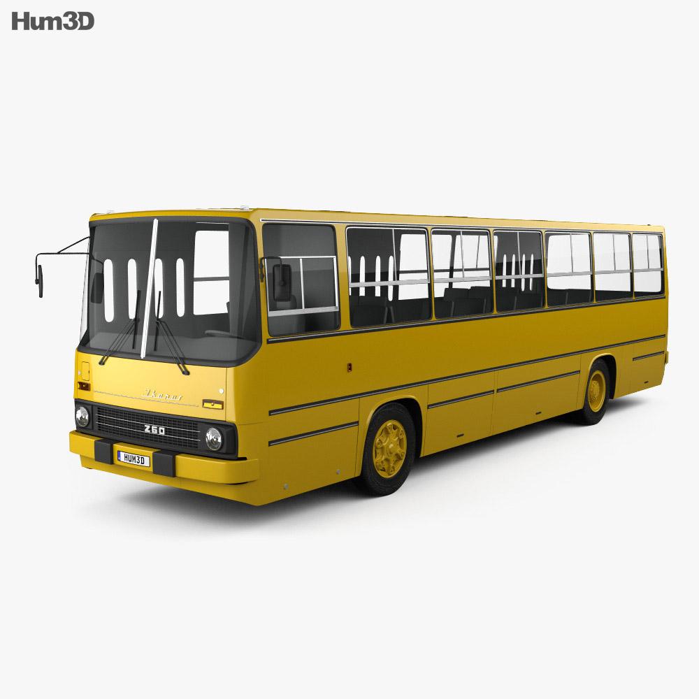 Ikarus 260-01 Bus 1981 3d model