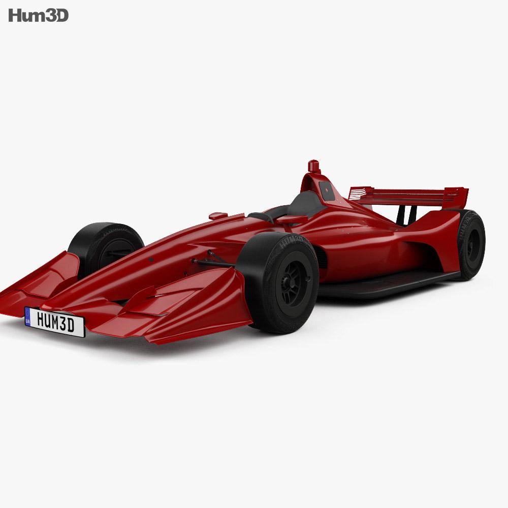 Indycar Short Oval 2018 3d car model
