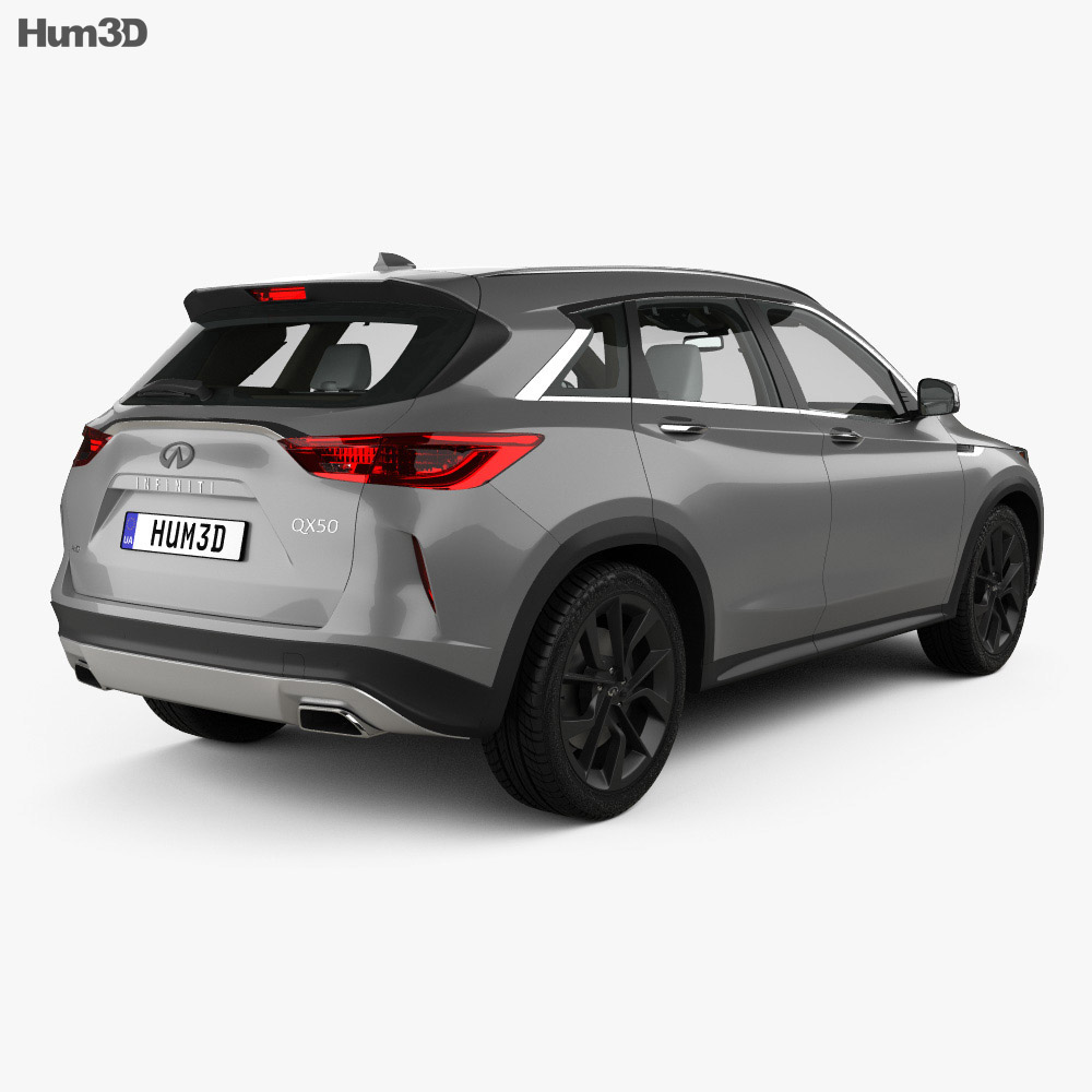 Infiniti QX50 with HQ interior 2019 3d model