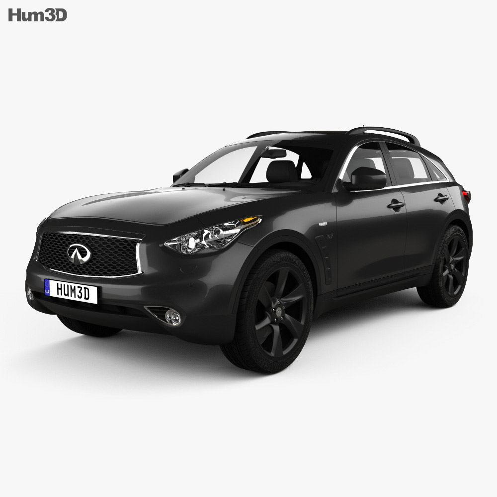 infiniti qx70 2017 3d model hum3d. Black Bedroom Furniture Sets. Home Design Ideas