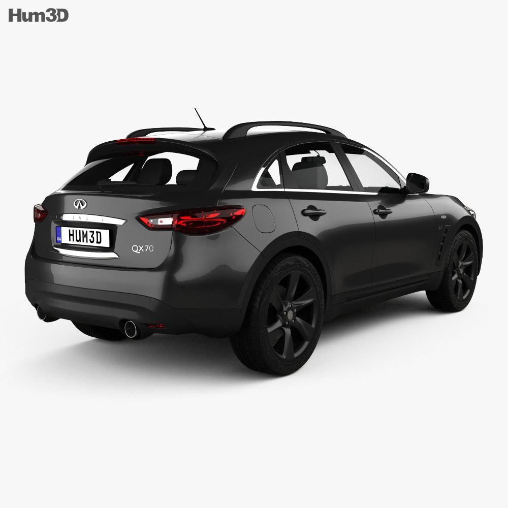 Infiniti QX70 2017 3d model