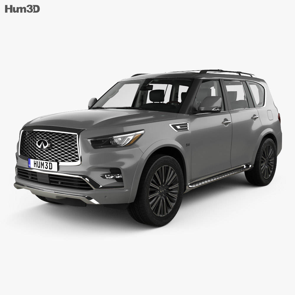 Infiniti QX80 Limited with HQ interior 2019 3d model