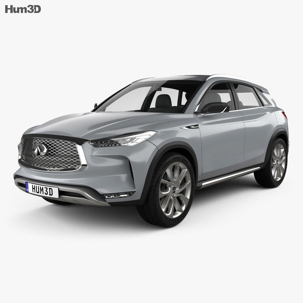 Infiniti QX 2016 3d car model